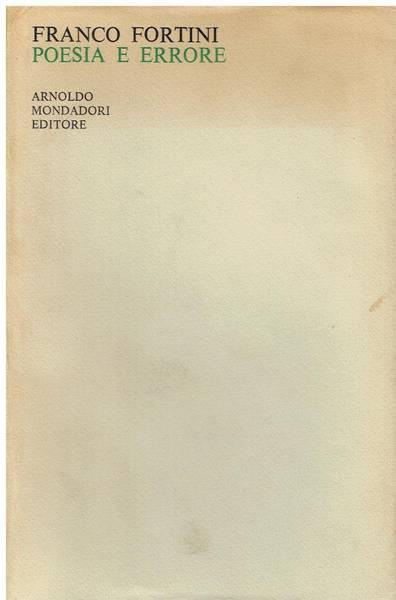 Poesia e errore