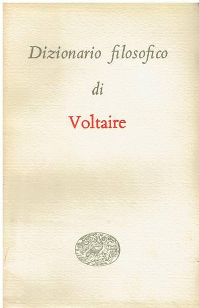 Dizionario filosofico di Voltaire