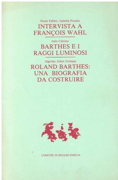Intervista a Francois Wahl