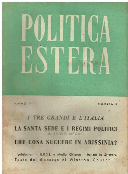 Politica estera n. 2 - febbraio 1945
