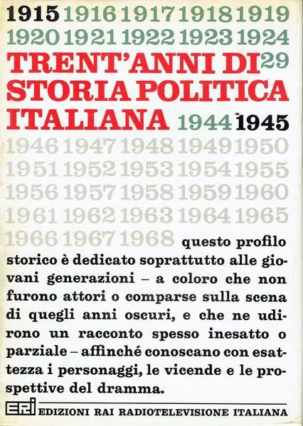 Trent'anni di storia politica italiana