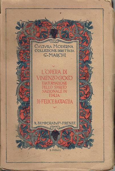 L'opera di Vincenzo Cuoco e la formazione dello spirito nazionale in Italia