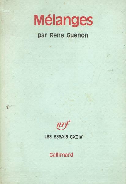 Mélanges par René Guénon