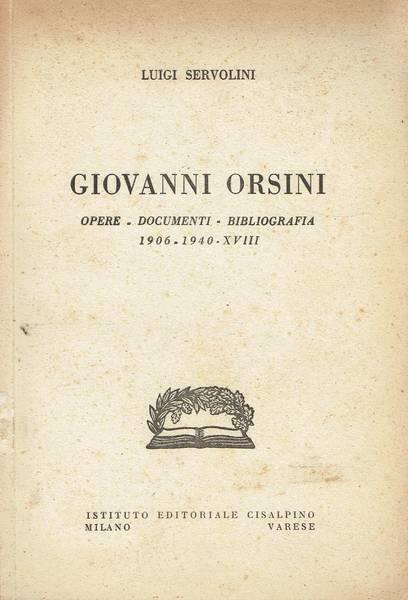 Giovanni Orsini : opere