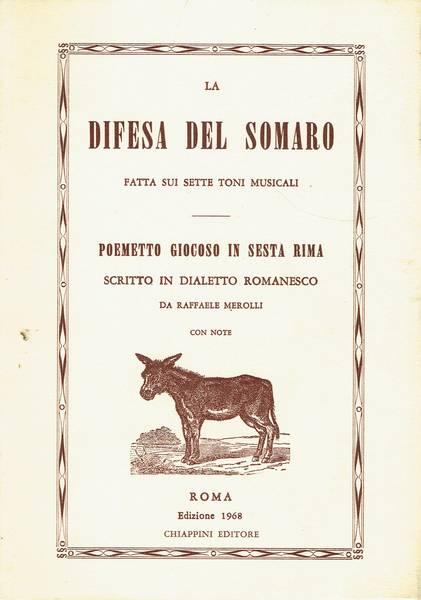 La difesa del somaro fatta sui sette toni musicali : poemetto giocoso in sesta rima