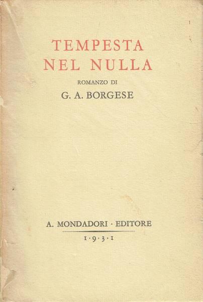 Tempesta nel nulla : romanzo