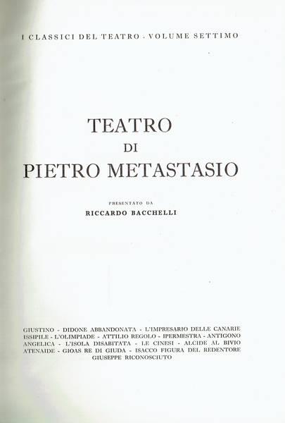 Teatro di Pietro Metastasio