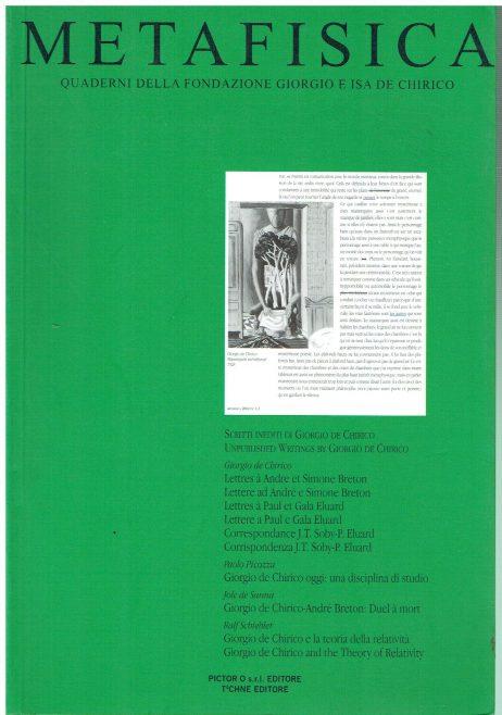 Metafisica: Quaderni della Fondazione Giorgio e Isa De Chirico n. -2 2002
