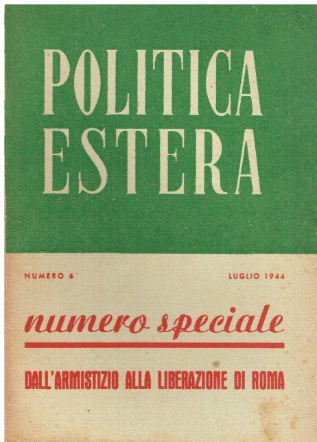 Politica estera n° 6 luglio 1944