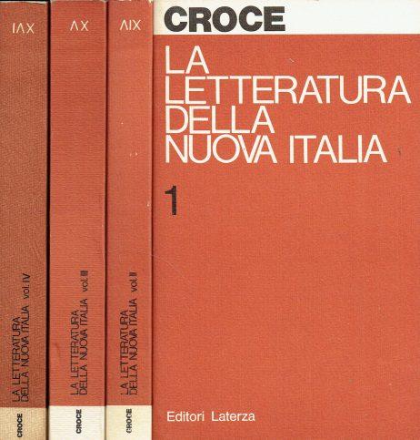 La letteratura della nuova Italia: saggi critici; 4 volumi
