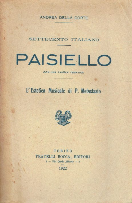 Paisiello : settecento italiano