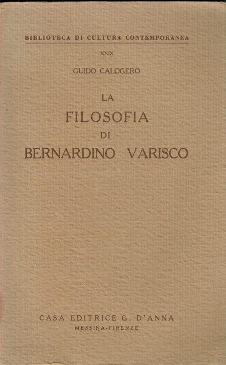 La filosofia di Bernardino Varisco