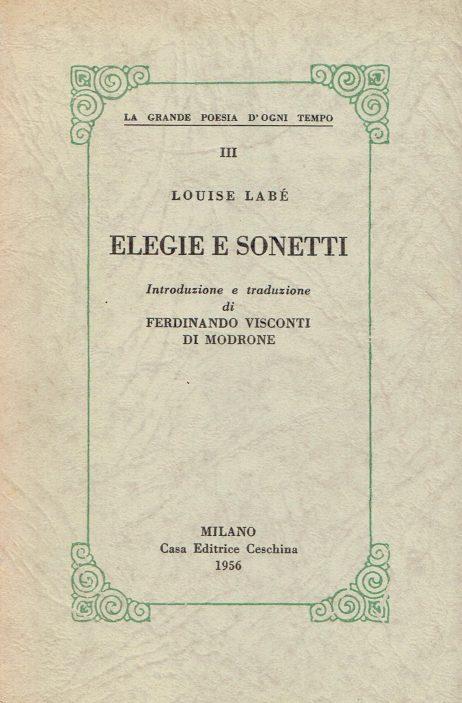Elegie e sonetti
