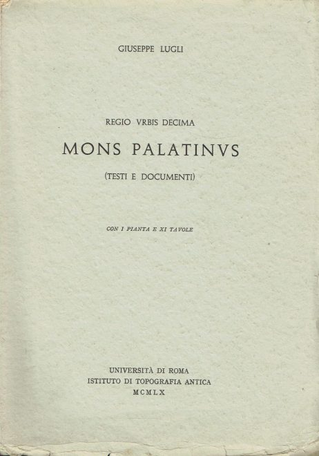 Regio Urbis decima : Mons Palatinus
