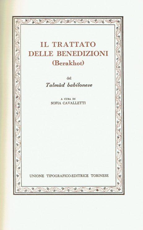 Il trattato delle benedizioni del Talmud babilonese