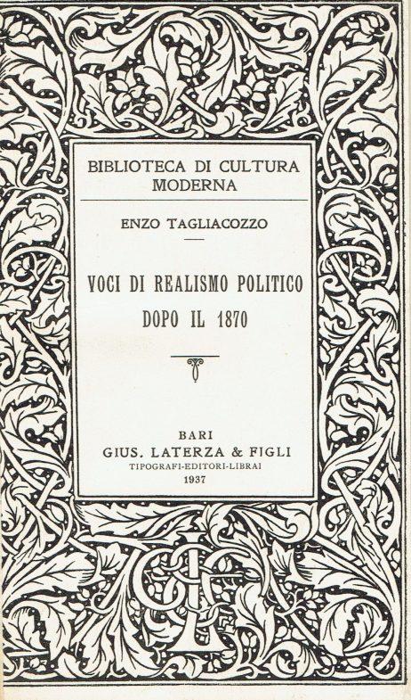 Voci di realismo politico dopo il 1870