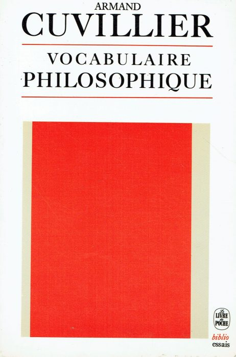 Vocabulaire philosophique